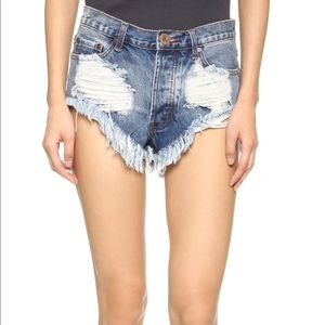 One Teaspoon Rollers cutoff jean shorts